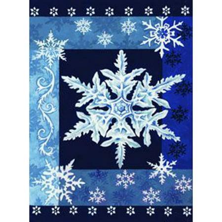 Toland Home Garden 112532 Cool Snowflakes Garden Flag 12
