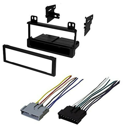 ford 1995 - 2005 explorer (all models) car stereo dash install mounting kit wire harness radio (Mount Kit Explorer)