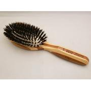 Shine & Condition Hair Brush | 100% Premium Natural Bristle FIRM | Pure Bamboo Handle | Small Oval | Dark Finish | Model 898 - DB