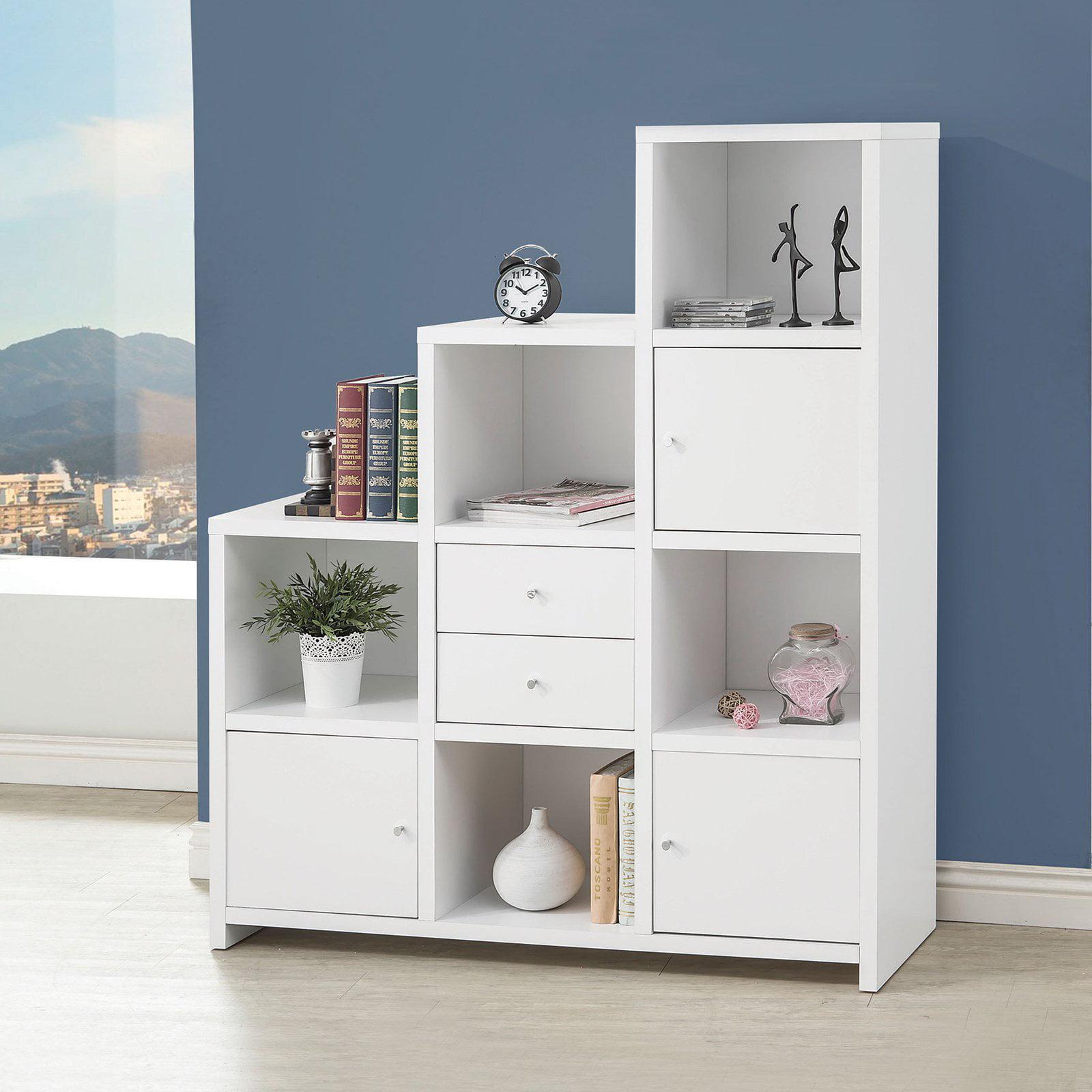 Coaster Company Bookcase, White/Chrome