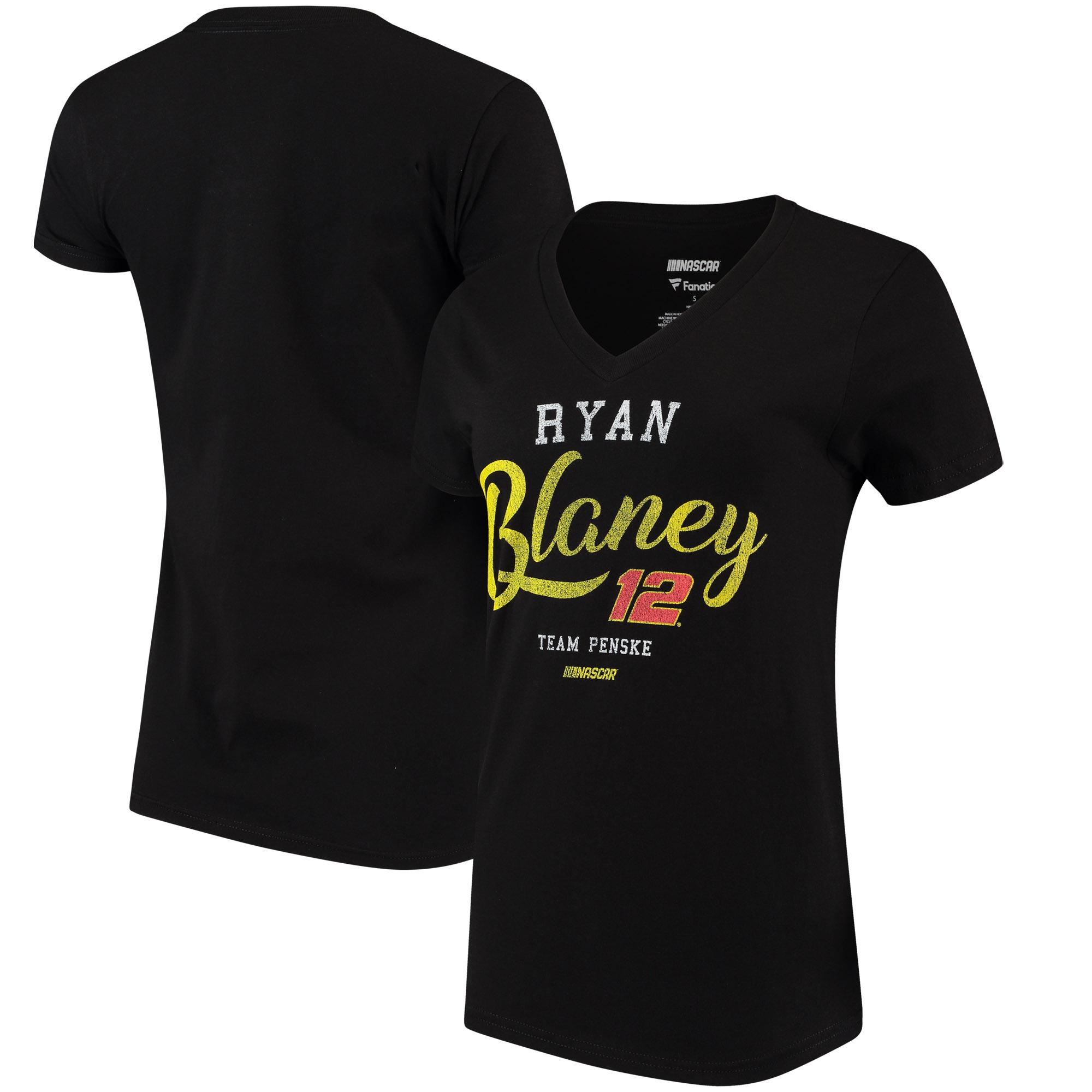 Ryan Blaney Fanatics Branded Women's Driver Team V-Neck T-Shirt - Red