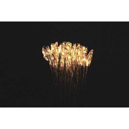80 LED Hanging Firework Fairy Dandelion String Lights Waterproof Dimmable Holiday Lights for Garland Indoor Outdoor Patio Garden Christmas Decoration ()