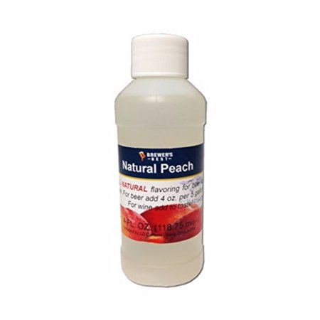 3718 Natural Beer and Wine Fruit Flavoring (Peach), 4 fl.oz., Natural peach flavoring By Brewer's Best Ship from