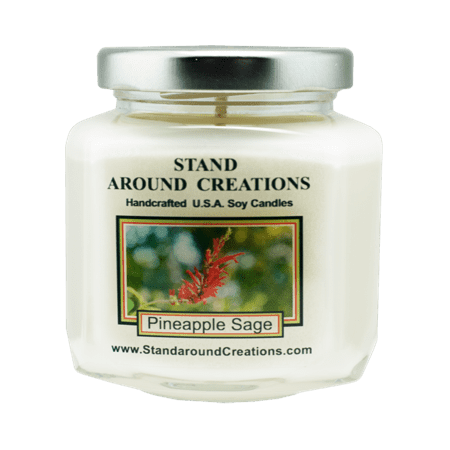 Pineapple Sake - PINEAPPLE / SAGE HEX 6-OZ. ALL NATURAL SOY CANDLE