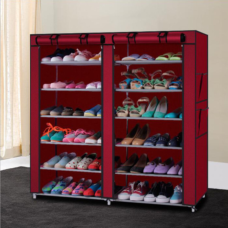 Beau Rack Shoe Organizer Storage Shelf Closet Tier Cabinet Tower Shelves Home 50  Pair Shoe Storage
