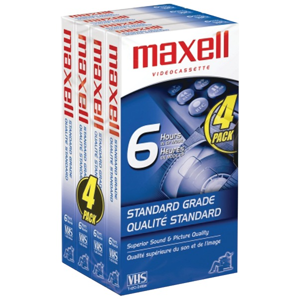 Maxell-STD-T-120-4-Pack-VHS-Tapes