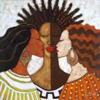 Every Woman African American Culture Print Wall Art By Monica Stewart