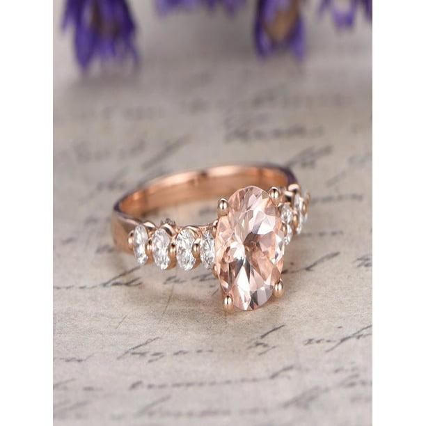 Diamond Rings For Sale Walmart: Sale: 1.25 Carat Peach Pink Morganite And