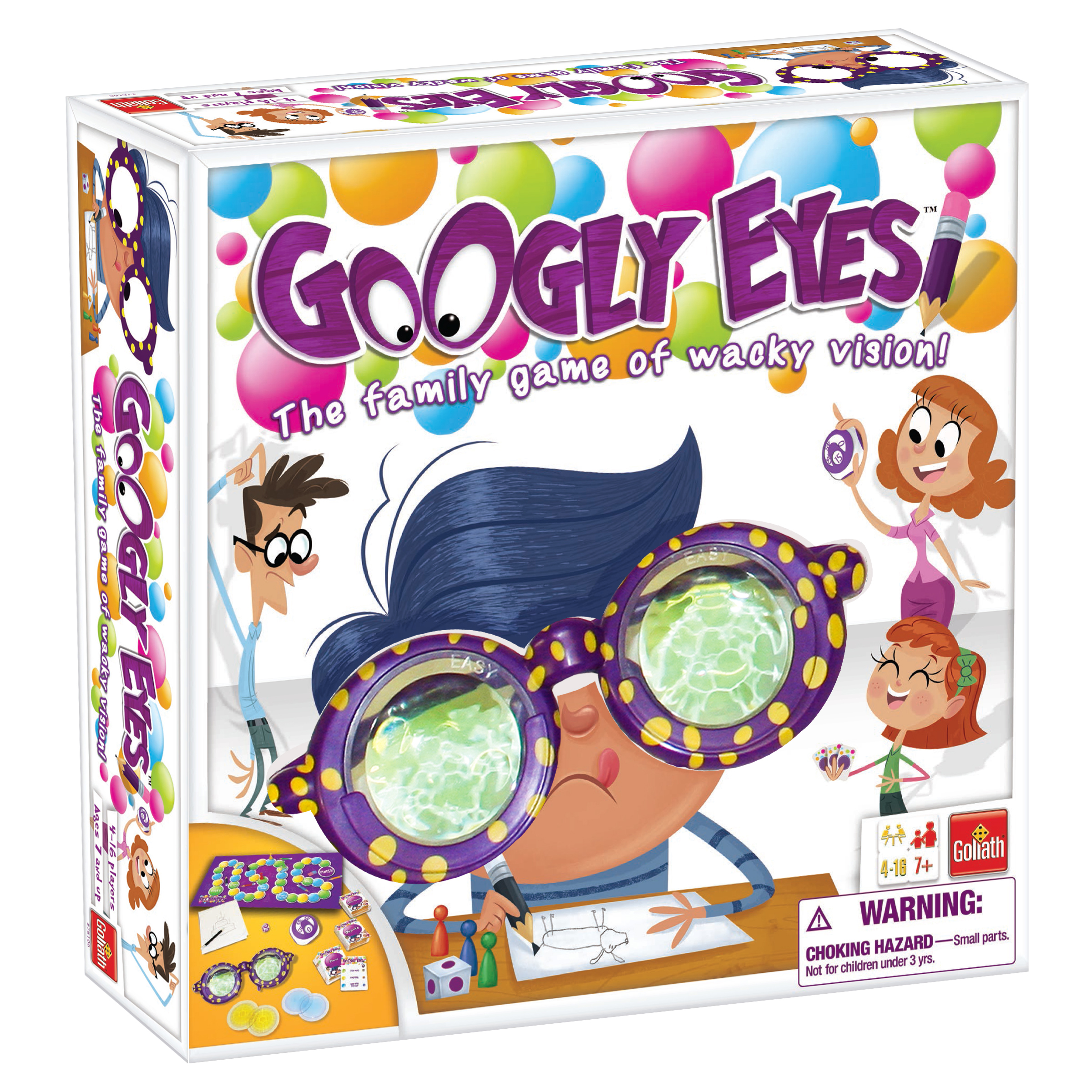 Googly Eyes - Family Drawing Game with Vision-Altering Glasses