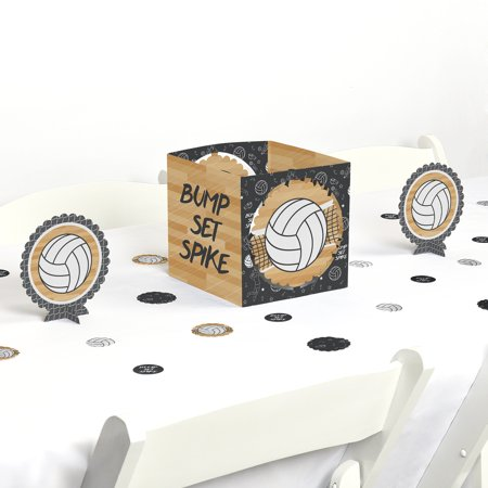 Bump, Set, Spike - Volleyball - Baby Shower or Birthday Party Centerpiece & Table Decoration Kit (Volleyball Centerpieces)