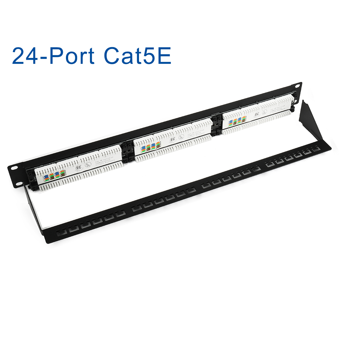 24 Port Rack Or Wall Keystone Multimedia Cat5e Patch Panel Utp T568b Wiring Diagram Unsheilded