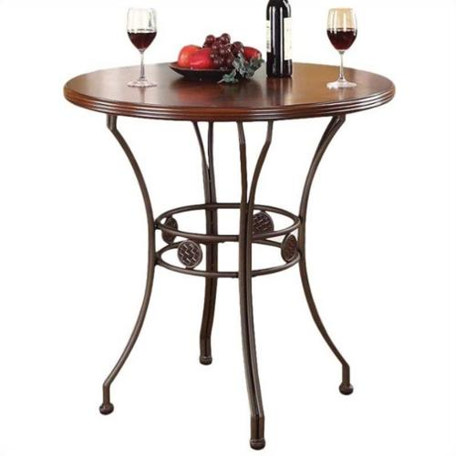 ACME Furniture Tavio Counter Height Table in Walnut and Dark Bronze