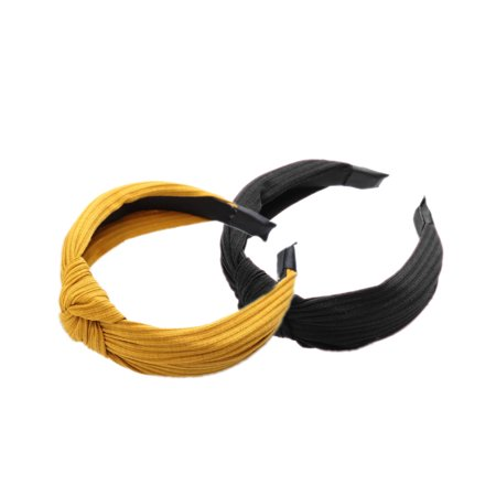 Boyijia Women Lady Bow Hair Hoop Girl Solid Color Soft Knotted Cloth Headband Hairband Head Decoration - image 3 of 8