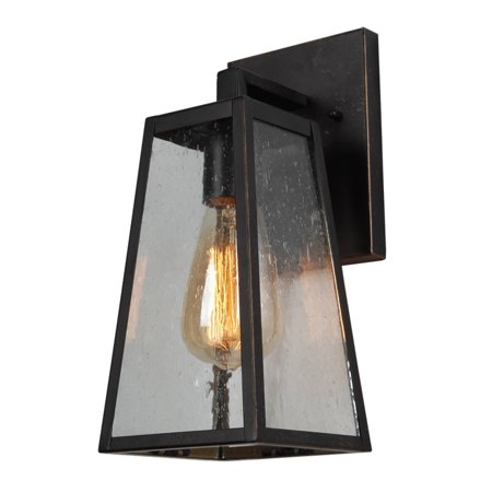 1 Light Outdoor Wall Mounted Lighting In Oil Rubbed Bronze Finish