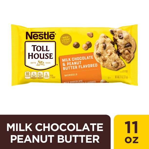 Nestle Toll House Milk Chocolate Peanut Butter Flavored Baking Chips 11 Oz Walmart Com Walmart Com
