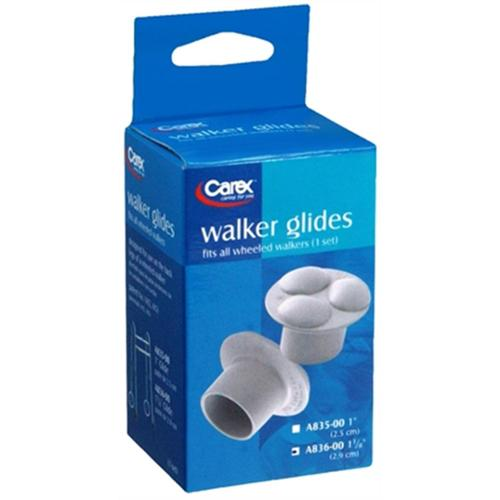Carex Walker Glides 1-1/8 Inch A836-00 2 Each (Pack of 6)