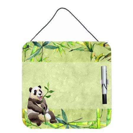 Carolines Treasures CK1696DEB1212 Panda Bear & Bamboo Aluminum Dry Erase Marker Board - image 1 de 1