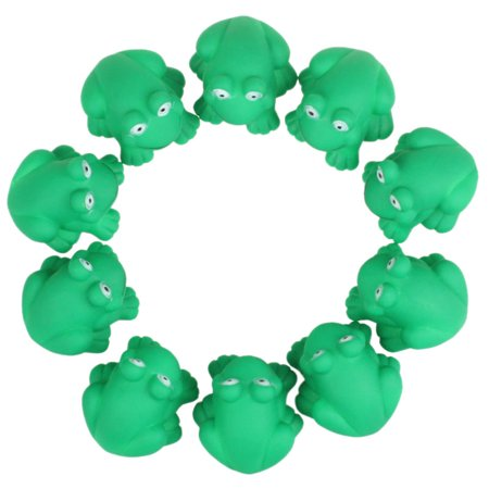 Novelty Cute One Dozen Rubber Cute Frog With Sound Shower Favors Baby - Toy Frogs