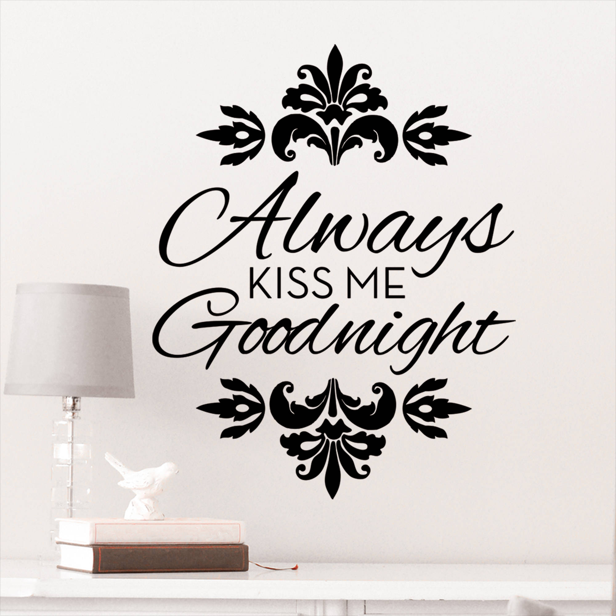 Merveilleux DCWV Vinyl Always Kiss Me Good Night Wall Decal   Walmart.com