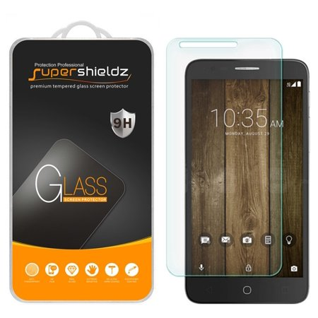 [2-Pack] Supershieldz Alcatel Pop 4 Plus Tempered Glass Screen Protector, Anti-Scratch, Anti-Fingerprint, Bubble Free