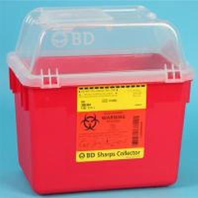 Container, Sharps Funnel Top Red 8Qt  (Units Per Case: 24)