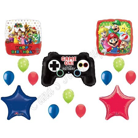 SUPER MARIO BROTHERS Video Game Birthday Balloons Decoration Supplies Party by by By Anagram (Super Mario Brothers Decorations)