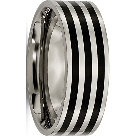 JbSP- Titanium 8mm Black IP-plated Polished Band - image 6 de 6