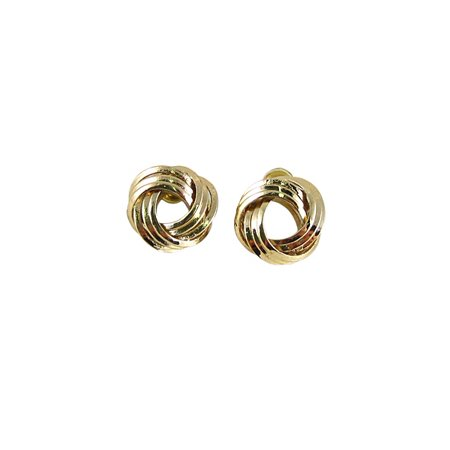 - Gold Tone Infinity knot Earrings