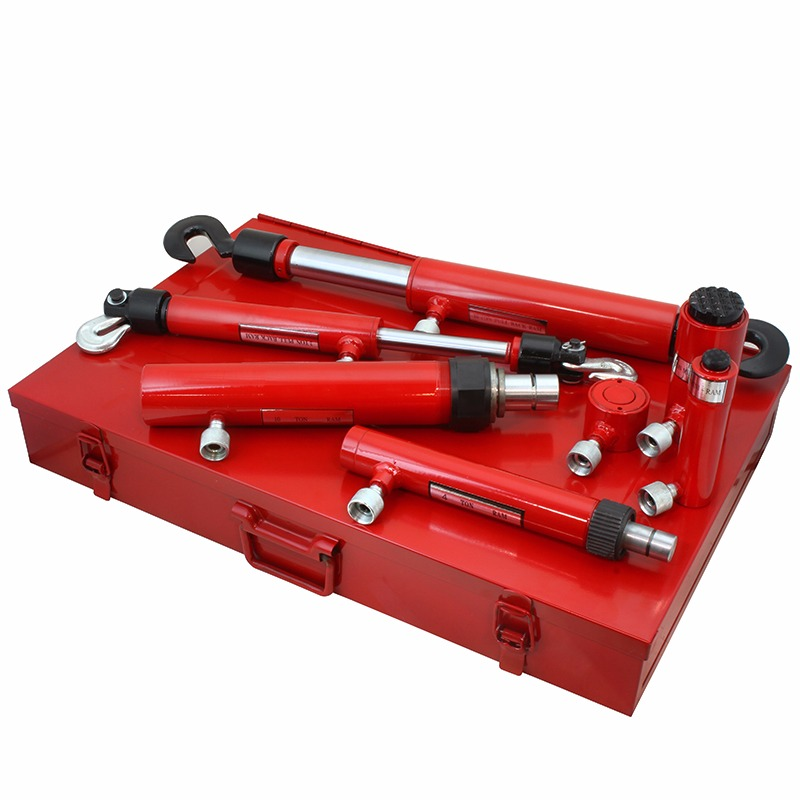 Hydraulic Pull & Push Ram Vehicle Body Frame Repair Tool Kit with Case, 7PC