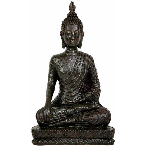 Oriental Furniture Laotian Sitting Buddha Figurine