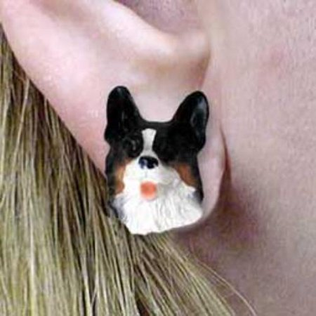 Welsh Corgi Earrings (DHE51B Welsh Corgi Cardigan Earrings)