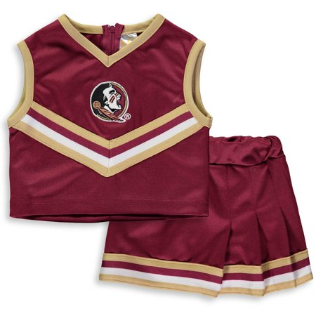 Florida State Football Halloween Costume (Florida State Seminoles Girls Toddler Two-Piece Cheer Set -)