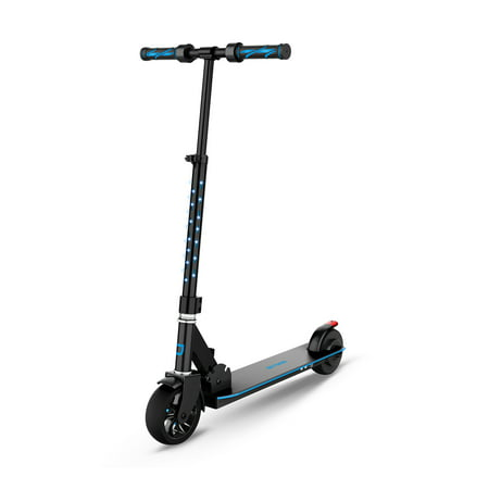 Jetson Glow Kids Electric Scooter with Thumb Throttle, LED Lights on Deck and Stem with Light-Up Handlebar Grips, For Kids 8 and Up, Blue (Electric Scooters For Kids E300)
