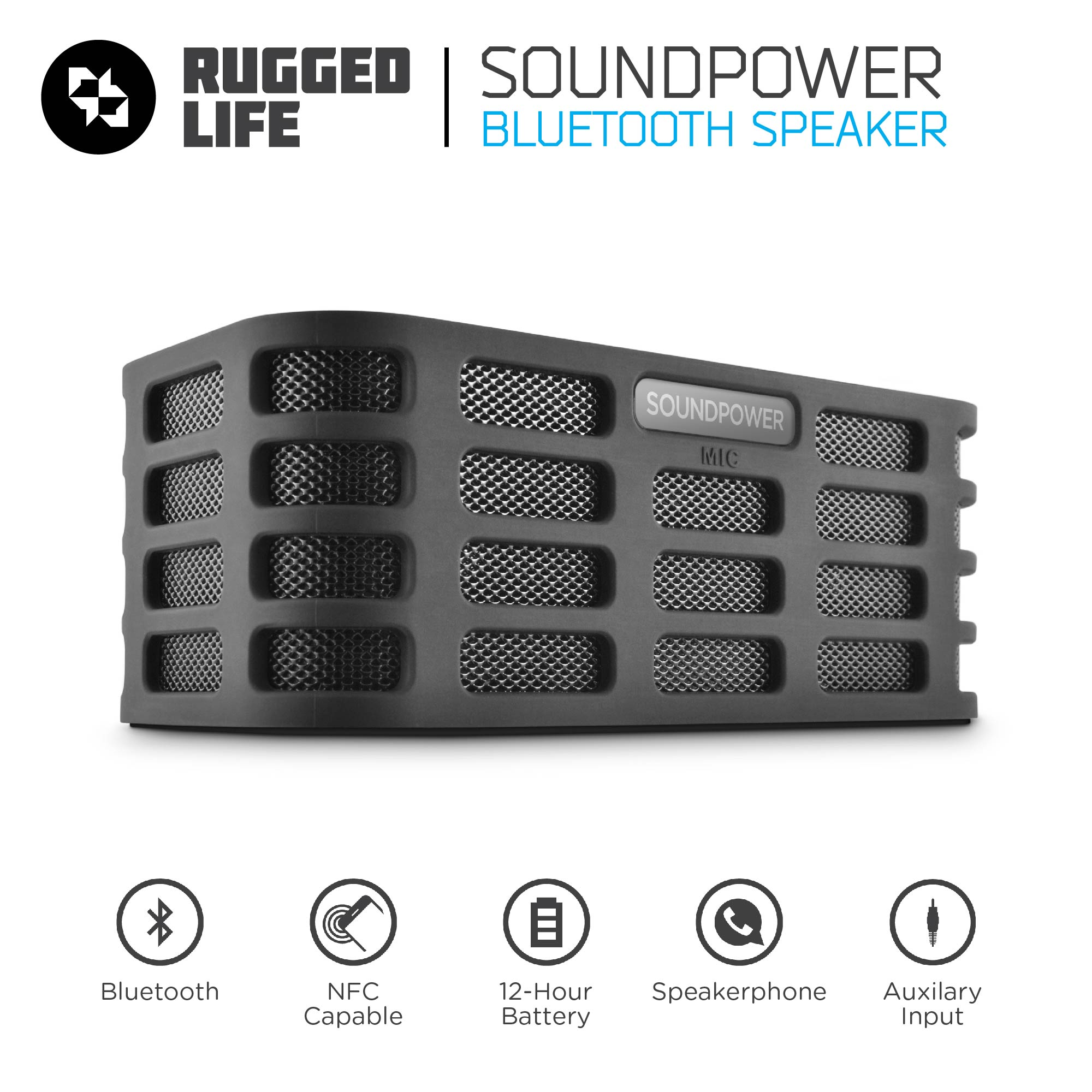 Ematic RuggedLife Bluetooth Speaker and Speakerphone