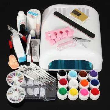 110V 36W Nail Art UV Gel Dryer Lamp Manicure Tool Kit Set...