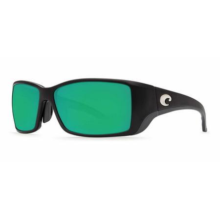 d76138a43160d Costa Del Mar - Costa Del Mar Blackfin BL 11GF Matte Black Global Fit Sunglasses  Green Lens 400G - Walmart.com