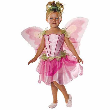 Pink Butterfly Fairy Child Halloween Costume - Halloween Art Kids
