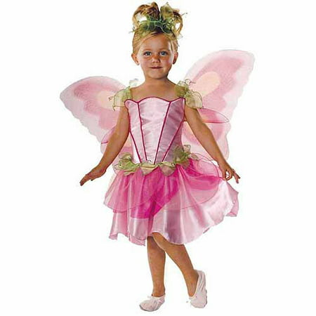 Pink Butterfly Fairy Child Halloween Costume](Little Girl Fairy Costumes)