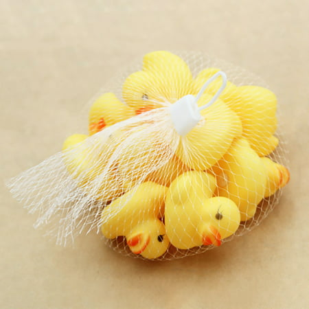 Iuhan 10PC Squeezing Call Rubber Duck Ducky Duckie Baby Shower Birthday Favors - Rubber Duckies Baby Shower Decorations