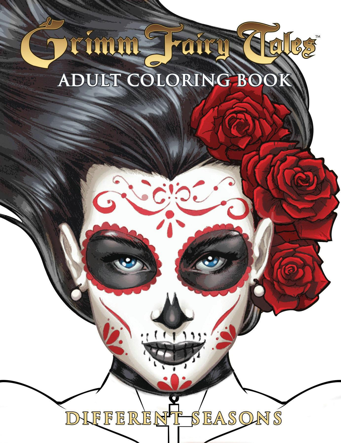 Grimm Fairy Tales Adult Coloring Book Different Seasons (Other ...