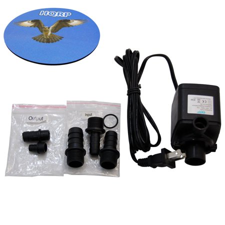- HQRP Submersible Water Pump for Aquarium, Pond, Fountain, Hydroponic, Aquaponic, Pool, Fish Tank 215 GPH + HQRP Coaster