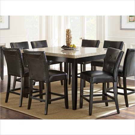Steve Silver Monarch Counter Height Dining Table in Dark (Ronbow Dark Cherry)