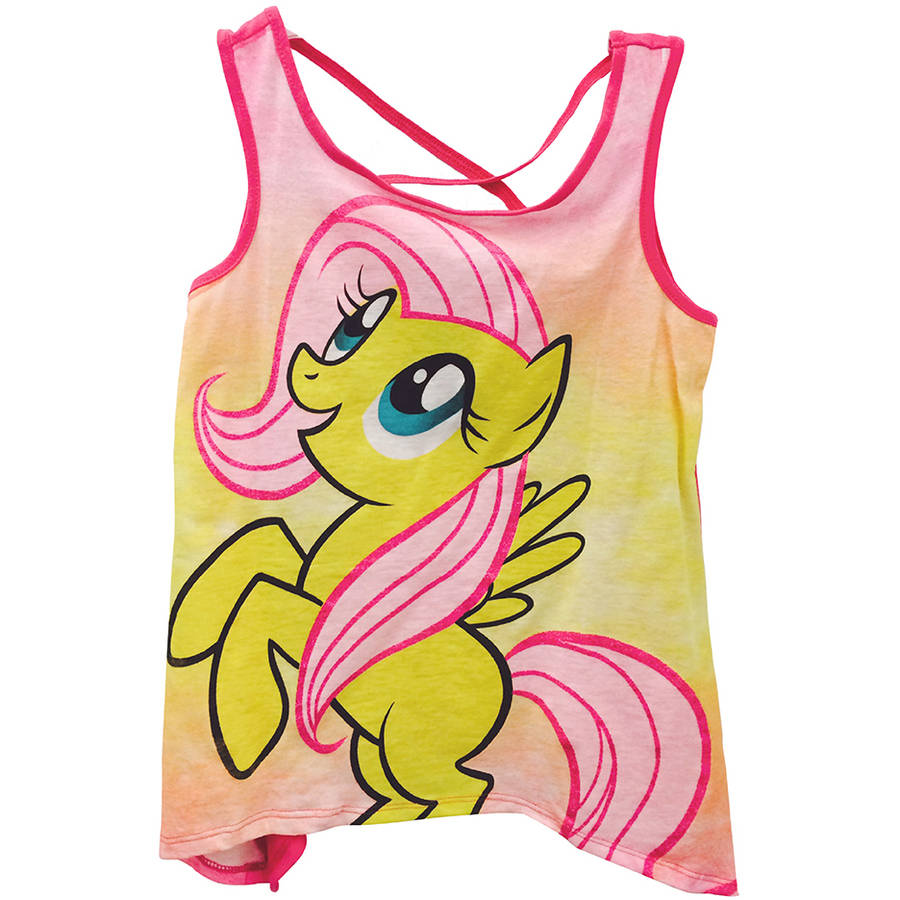 My Little Pony Fluttershy High Front and Back Graphic Tee