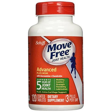 Glucosamine Chondroitin 60 Tablets - 4 Pack SCHIFF - Move Free Advanced Plus 1500 mg MSM - 120 Tablets Each