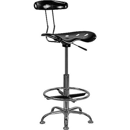 Adjustable Height Drafting Stool With Tractor Seat