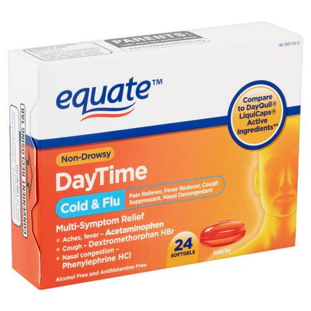 Equate Daytime Cold & Flu Liquid Caps