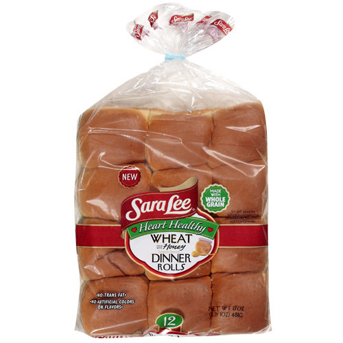 Sara Lee Wheat Dinner Rolls With Honey, 17 oz