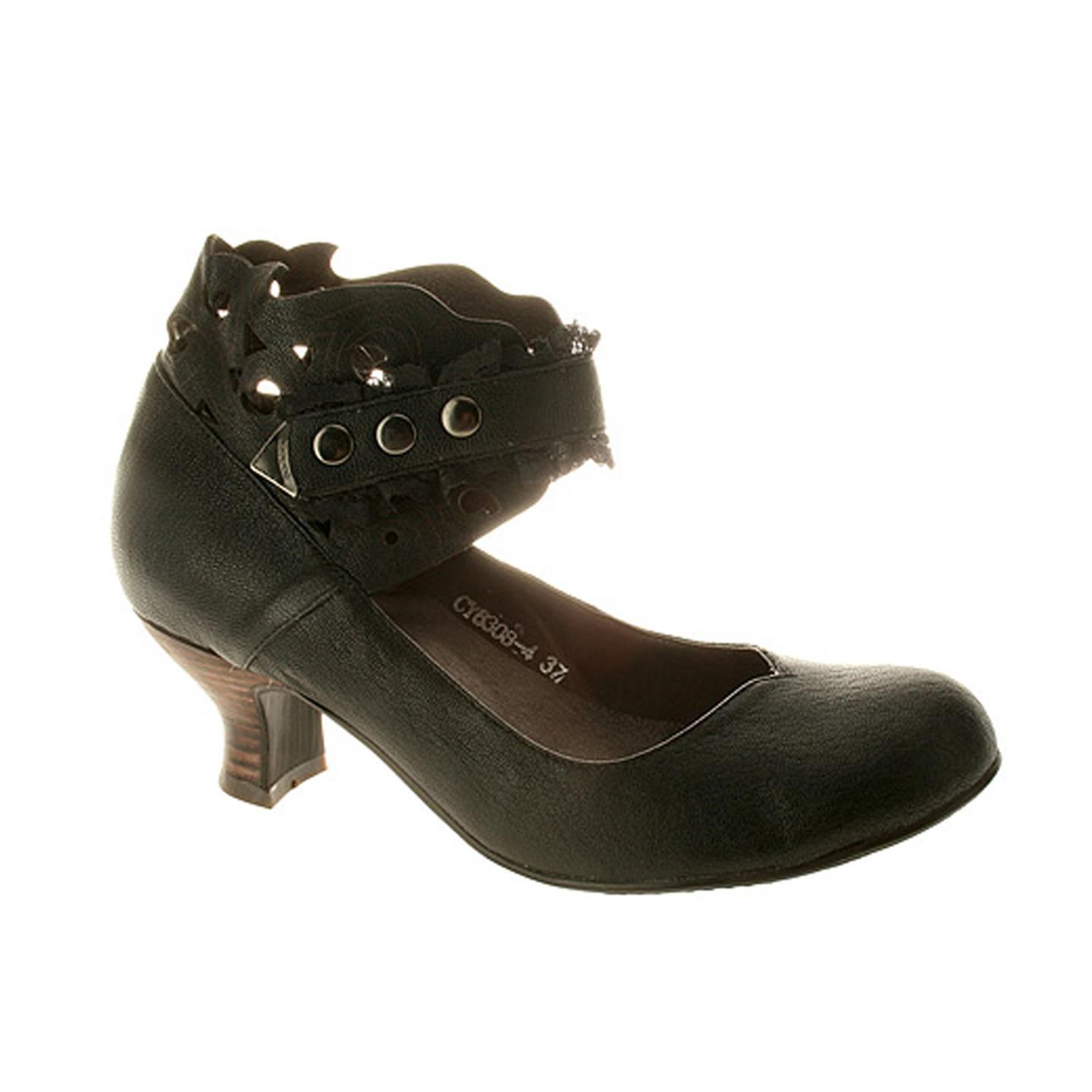 Uptown By Spring Step Black Leather Shoes 36 EU   6 US Women by Spring Step