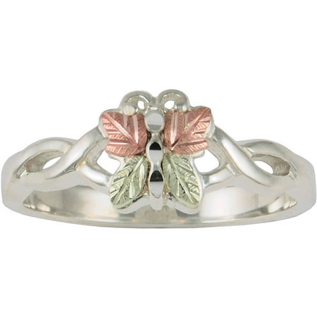 Jewelry Coleman Co. 10kt and 12kt and Sterling Silver Butterfly Ring