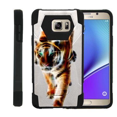 Tiger Note (Case for Samsung Galaxy Note 5 N920 [ Shock Fusion ] High Impact Shock Resistant Shell Case + Kickstand - Blazing)
